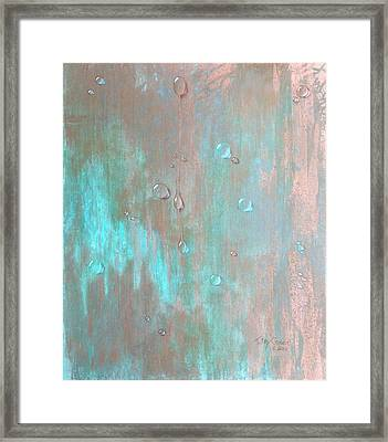 Water On Copper Framed Print by T Fry-Green