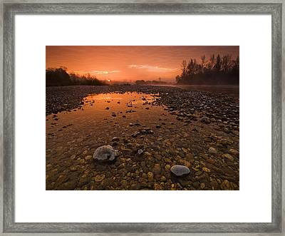 Water On Mars Framed Print