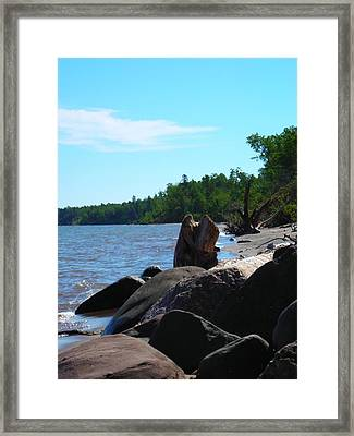Water On The Rocks Framed Print by Peter Mowry