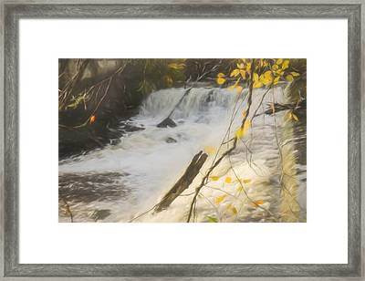 Water Over The Dam. Framed Print