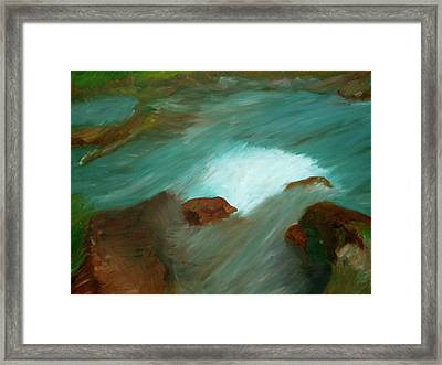 Water Over The Rocks Framed Print