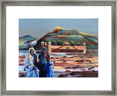 Water Palace In A Drought Framed Print by Art Nomad Sandra  Hansen