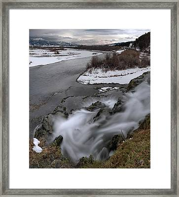 Water Paths Framed Print by Leland D Howard