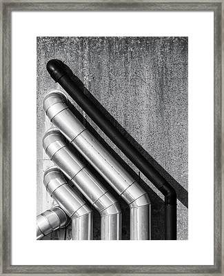 Water Pipes Framed Print by Wim Lanclus