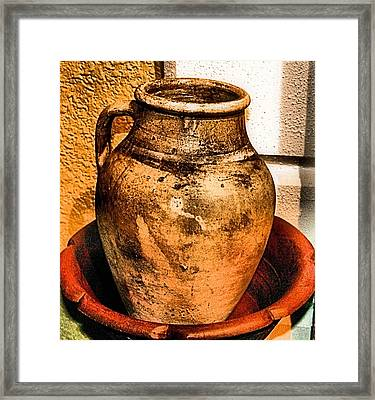 Water Pitcher Framed Print by Jimmy Ostgard