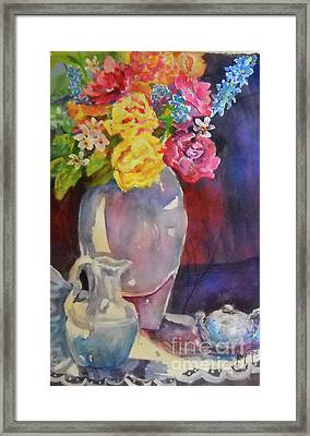 Water Pitcher Framed Print by Linda Rupard
