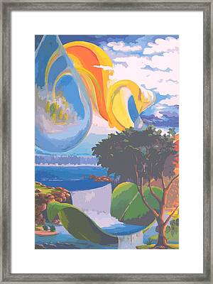 Water Planet Series - Vetor Version Framed Print by Leomariano artist BRASIL