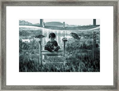Water Playground Framed Print by Dimas Awang