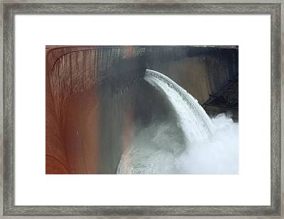 Water Pours Over The Kariba Dam Framed Print by James L. Stanfield