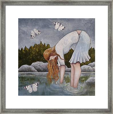 Framed Print featuring the painting Water Prayer by Sheri Howe