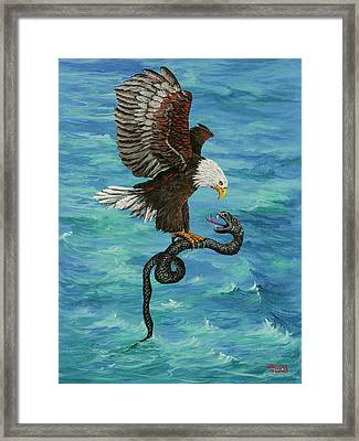Framed Print featuring the painting Water Protector by Darice Machel McGuire