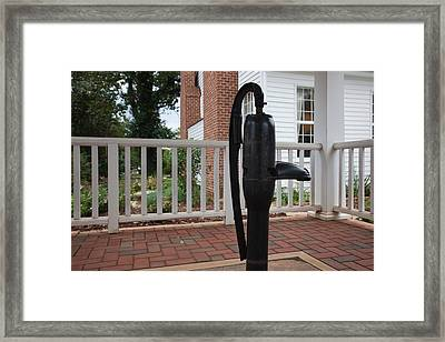 Water Pump Where Helen Keller Said Framed Print