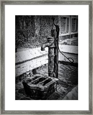 Water Pump Framed Print by Wim Lanclus