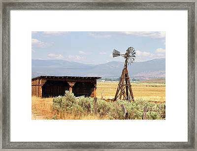 Water Pumping Windmill Framed Print