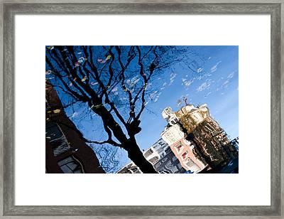 Water Reflection - Amsterdam  Framed Print by John Battaglino