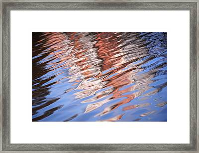 Water Reflections Abstract Framed Print by Jenny Rainbow