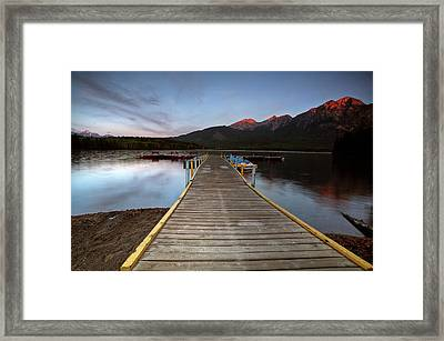 Water Reflections At Pyramid Lake Framed Print