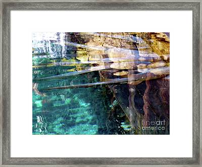 Framed Print featuring the photograph Water Reflections by Francesca Mackenney
