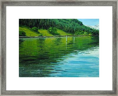 Water Reflections Framed Print by Nolan Clark