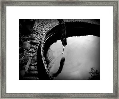 Water Rings Framed Print