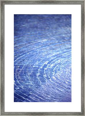Water Ripple Framed Print by John Foxx
