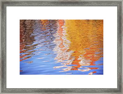 Water Ripples Abstract Framed Print by Jenny Rainbow