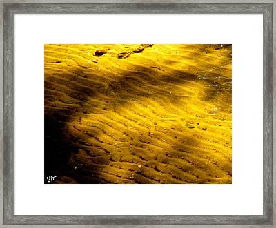 Water Ripples Framed Print by Debra     Vatalaro