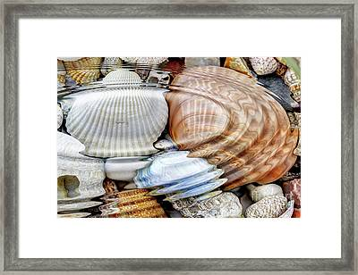 Water Ripples Over The Stone Pebbles Framed Print by Michal Boubin
