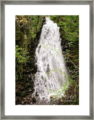 Water Roaring Down Cascade Falls, Farmington, Maine  -30377 Framed Print