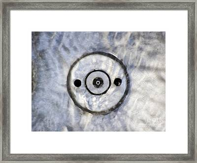 Water Round Framed Print
