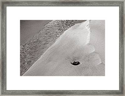 Water-sand-stone-st Lucia Framed Print