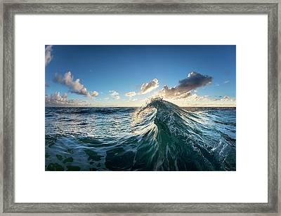 Water Scythe Framed Print by Sean Davey