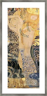 Water Serpents I Framed Print by Gustav klimt