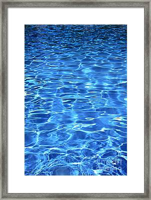 Framed Print featuring the photograph Water Shadows by Ramona Matei