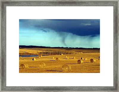 Water Shapes Framed Print by Mario Brenes Simon
