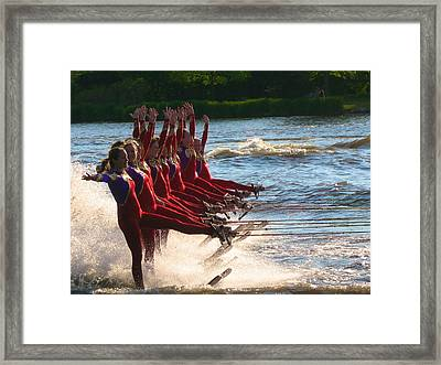 Water Ski  Framed Print by Art Spectrum