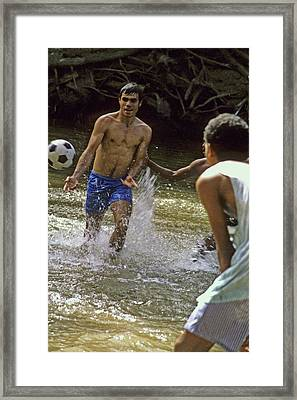 Water Soccer Framed Print