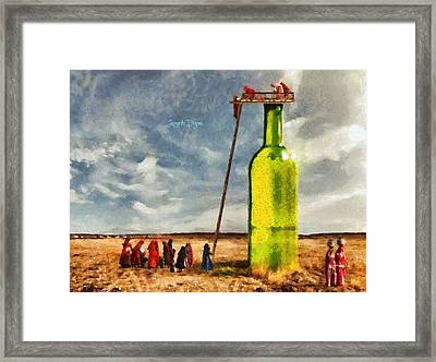 Water Source  - Camille Style -  - Da Framed Print