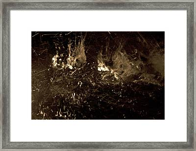Water Splashing Framed Print