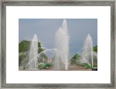 Water Spray - Swann Fountain - Philadelphia Framed Print by Bill Cannon