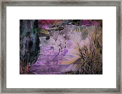 Framed Print featuring the painting Water Sprite by Mindy Newman