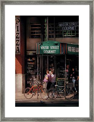 Water St Gourmet Deli  Framed Print by Mike Savad