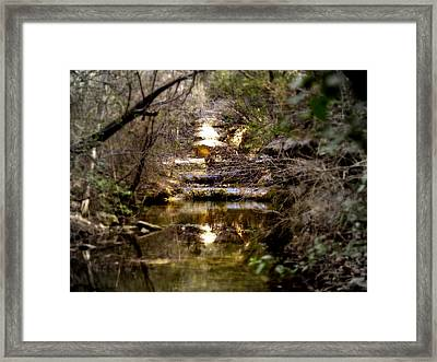 Water Stairs Framed Print by James Granberry