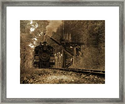 Water Stop Framed Print