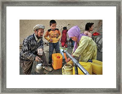Water Supply, Kabul, Afghanistan Framed Print by Olivier Blaise