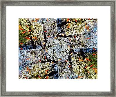 Water Surface Matrix Framed Print