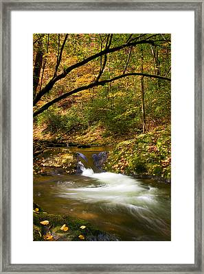 Framed Print featuring the photograph Water Swirl by Bob Decker
