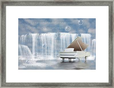Water Synphony For Piano Framed Print