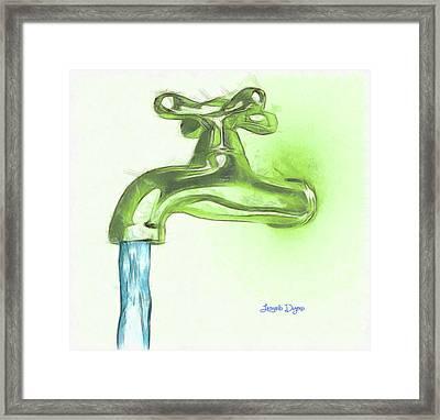 Water Tap A Framed Print by Leonardo Digenio