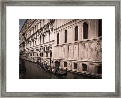 Water Taxi In Venice Framed Print by Kathleen Scanlan